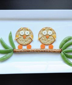 Cute Snack Idea: Owls in a Tree