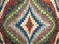 Hand Painted Diamond Bargello Quilt