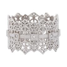 Grace Lee Diamond & White Gold Lace Crown Ring