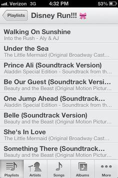 Disney 32 min running playlist! What I run to everyday :)