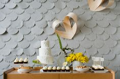 Dessert table with that awesome cake! Love this whole shoot.. check it out on Ruffled