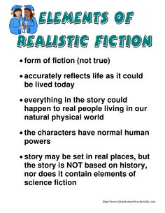 elements of realistic fiction - Google Search