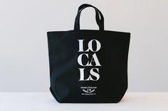 locals black tote | honey & bloom