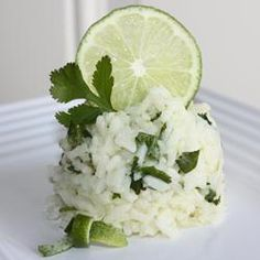 Lime Cilantro Rice - can eliminate the butter