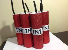Minecraft Birthday Party TNT Stick Favors
