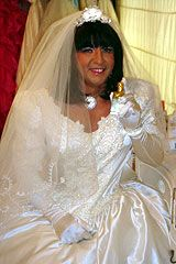A pretty transvestite just one of many transvestites in the world boy bride, male bride, tg bride