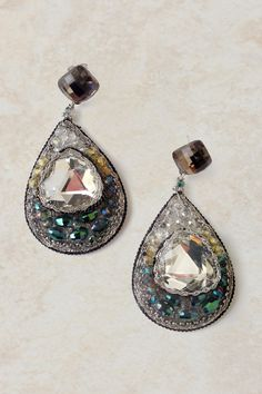 Delphine Crystal Teardrop Earrings on Emma Stine Limited