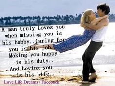 A man truely loves you