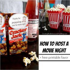 Party ideas for a movie night at home - C.R.A.F.T.