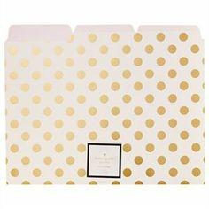 File Folders Gold Dots 6pk by @kate spade new york  #KateSpadeNY #IndigoPaper