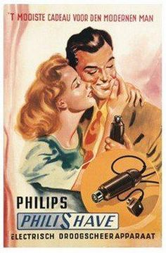 Philips Vintage #Shaving ad / #philips #men #grooming #design
