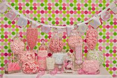 Pink candy ideas- baby shower