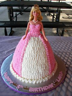 Sleeping Beauty cake made for our niece Layla's 5th birthday.