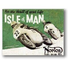 Norton - Isle of Man Tin Signs - Classic Tin Signs