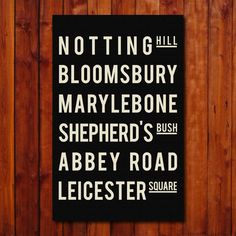 London  Subway Sign  Poster  Typography Print  by GoingUnderground, $20.00