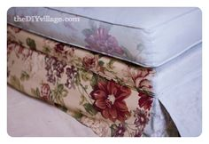 Painting Upholstered Furniture Part 1{ Painting Fabric }-theDIYvillage