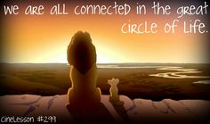 The Lion King.  The Circle of Life.