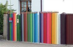 Colored pencil fence...I think we need this at the office.