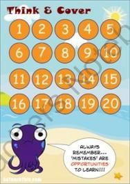 ADDITION & SUBTRACTION GAME - A Facts Below 20 Game from Adrian Bruce's Math & Reading Games on TeachersNotebook.com -  (3 pages)  - 'Addition & Subtraction Game' - A Facts Below 20 Game - Think & Cover is a strategic thinking game used to practice Addition and Subtraction number facts below 20.