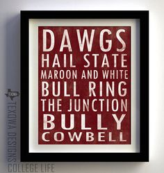 Starkville Mississippi Subway Scroll Art Print by texowadesigns, $25.00