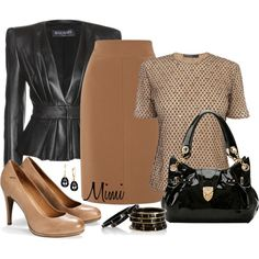 Leather Peplum, created by myfavoritethings-mimi on Polyvore