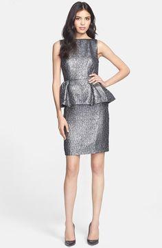 kate spade new york 'andi' metallic peplum dress available at #Nordstrom