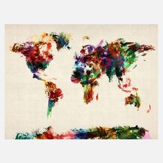 Weltkarte Abstrakte Kunst