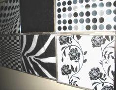 Cuadros con texturas (cajas de CDs y servilletas de decoupage)