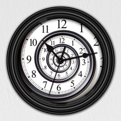 Abstract Time Spiral Infinity Decorative Wall Clock  by GoodTiming, $18.50