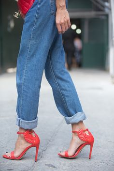 Details in street style. New York Fashion Week Spring 2015