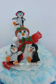 torturi-de-vis: Tort cu pinguini