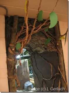 "jungle ""vines"" from brown paper @Selena Garrison"