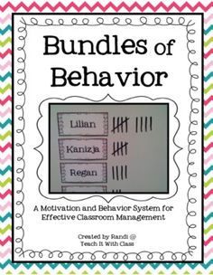 Bundles of Behavior - Classroom Management from Teach It With Class