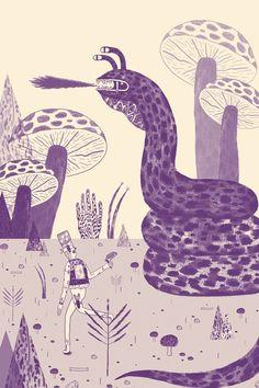 mushroom, galleries, malta illustr, artwork illustr, behance