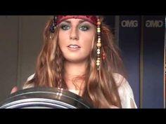 pirate makeup and hair tutorial