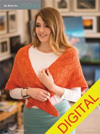 Autumn Entrelac Shawl Digital Crochet Pattern - from the Fall 2014 Issue of Love of Crochet magazine