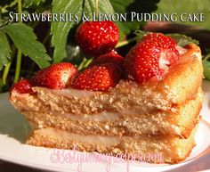 3 Layer Cake with Strawberries and Lemon Pudding by Thinkarete, via Flickr