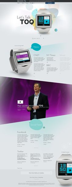 Concept designs for Qualcomm's new smart watch, TOQ. http://toq.qualcomm.com/  Designed at Digitaria.
