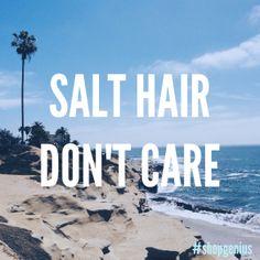 Summer hair routine