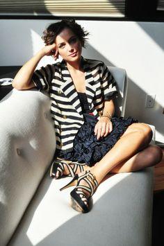 skirt, short, jacket, black n white, blazer