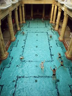 Budapest, Hungary. - This bath was so much fun to relax in. @LifeAdventuresOfMrsC
