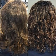 Before & after adding some peekaboo highlights! #ambushedsalon #curlyhair #embraceyourcurls