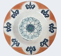 Plate #42 comes in sizes 35cm, 43cm & 48cm all of our terracotta is on our website www.romeocuomoceramics.com