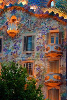 Casa Batllo, Antoni Gaudi, Barcelona, Spain.