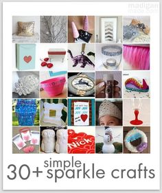 30+ Simple and Sparkly Craft Projects - this is the ultimate list for glittery crafts!