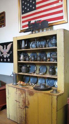 Pewter in Mustard Cupboard