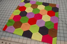 how to sew hexagons on a machine.