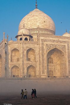 Taj Mahal, Agra, India: It is regarded by many as the finest example of Mughal architecture, a style that combines elements from Islamic, Persian, Ottoman Turkish and Indian architectural styles.