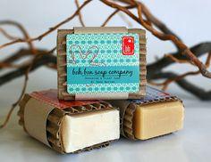 Handmade soap wrap.