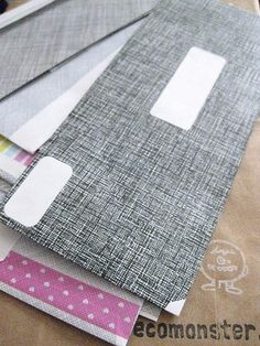 great use for all that junk mail!  flip them inside out and re-use!